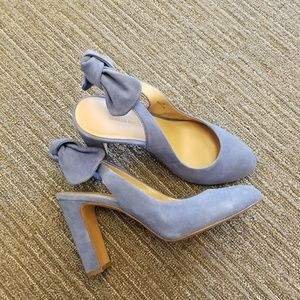 Banana republic baby blue suede heels